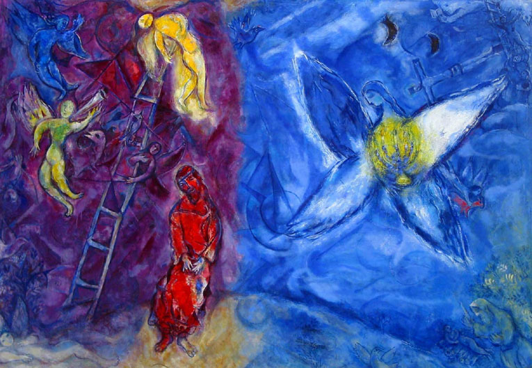 Марк Шагал (Marc Chagall). Сон Иакова (Jacob's Dream)