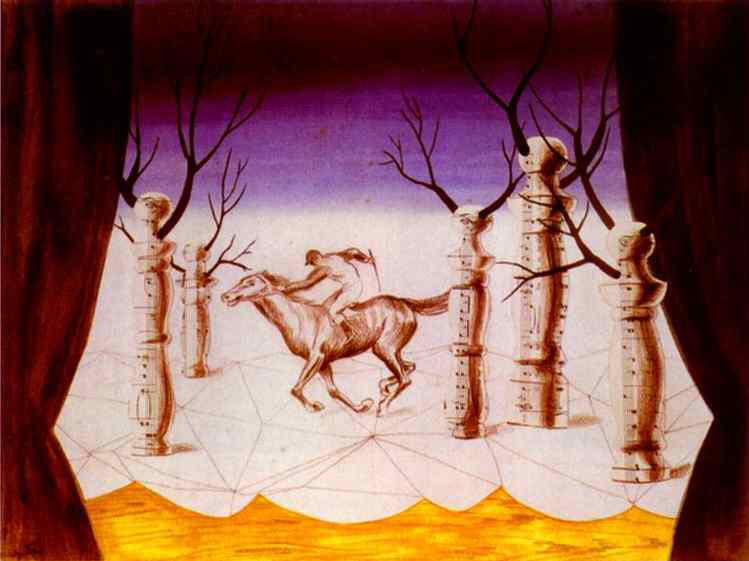 Рене Магритт (Rene Magritte). Заблудившийся жокей (The Lost Jockey)